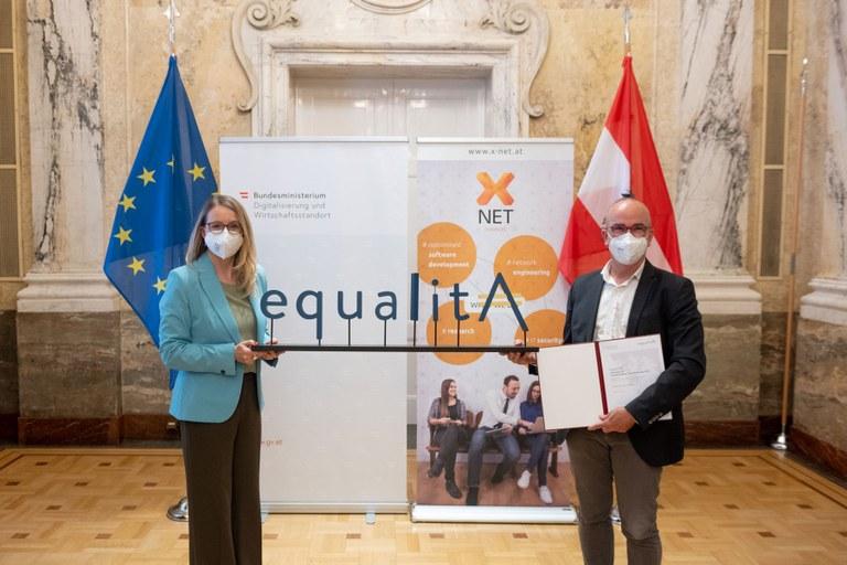 Überreichung Equalita Auszeichnung 2021