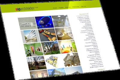Webseite AAP Architekten