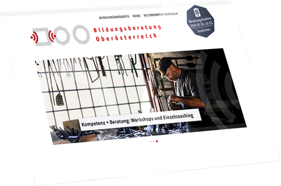 Webseite Bildungsberatung Oberösterreich