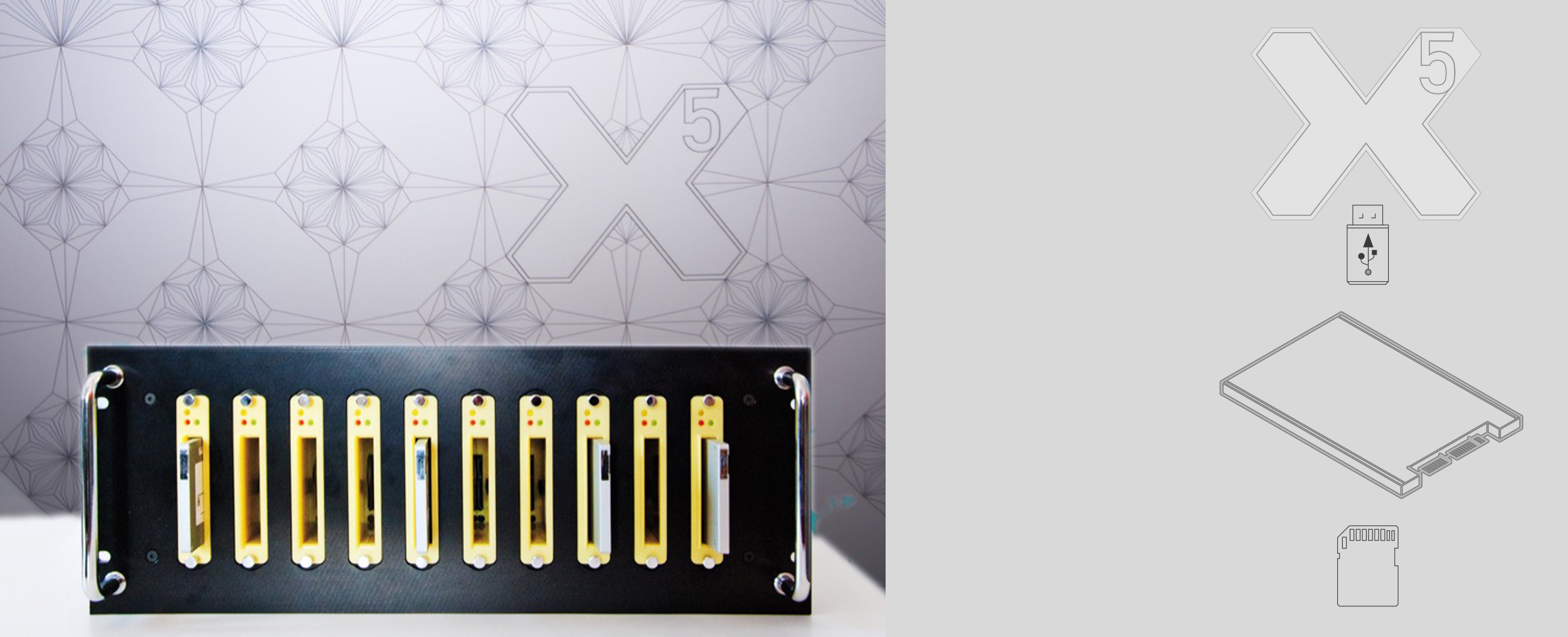 X5 Copysystem SSD, CF, Flash, USB
